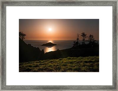 Coastal Moonlight Framed Print by Leland D Howard