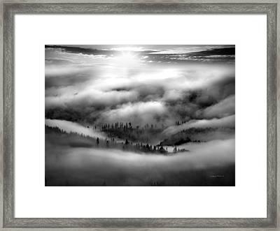 Coastal Range Bw Framed Print