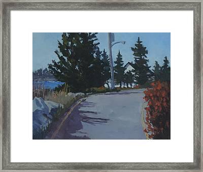Coastal Road Framed Print