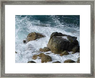 Coastal Rocks Trap Water Framed Print