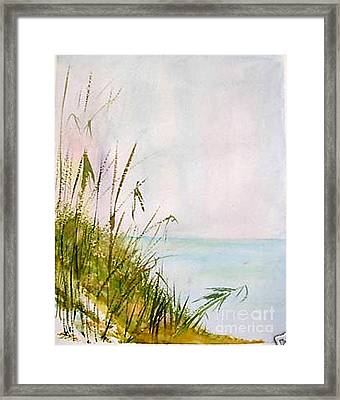 Framed Print featuring the painting Coastal Scene by Sibby S