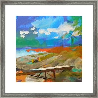 Coastal Square Framed Print