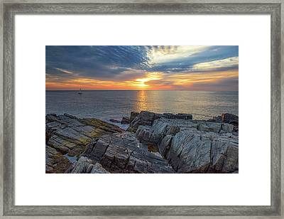 Coastal Sunrise On The Cliffs Framed Print