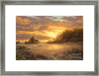 Coastal Sunset Framed Print by Chuck Pinson