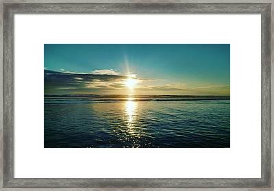 Coastal Sunset Framed Print by Frederick Messner