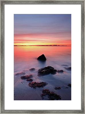 Framed Print featuring the photograph Coastal Sunset Kintyre by Grant Glendinning