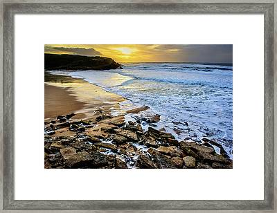 Framed Print featuring the photograph Coastal Sunset by Marion McCristall