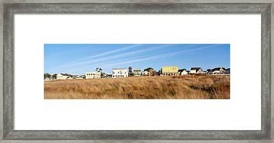 Coastal Town, Mendocino, California Framed Print