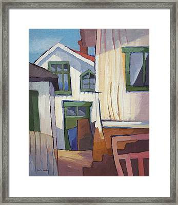 Coastal Village Framed Print by Lutz Baar