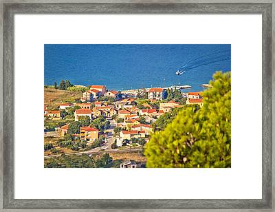 Coastal Village On Island Of Pasman Framed Print
