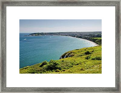 Coastal Walk Swanage Bay Comes Into View Sweeping Beaches Dorset England Uk Framed Print