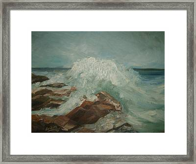 Coastal Waters Framed Print by Joseph Sandora Jr