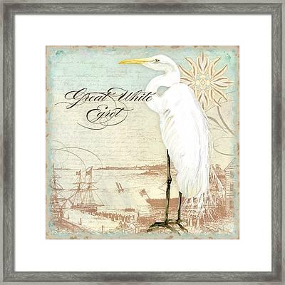 Coastal Waterways - Great White Egret 2 Framed Print