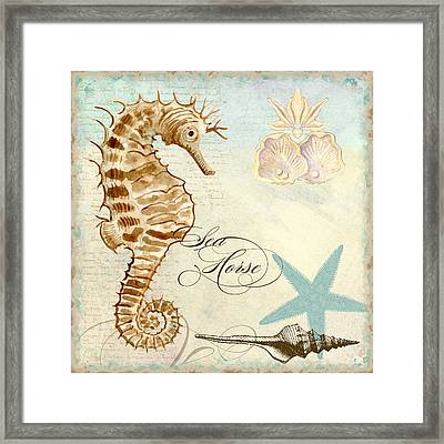 Coastal Waterways - Seahorse 2 Framed Print by Audrey Jeanne Roberts