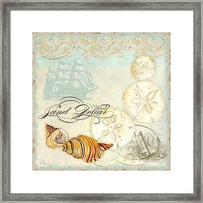 Coastal Waterways - Seashells Framed Print by Audrey Jeanne Roberts