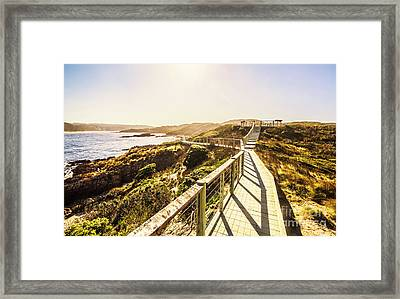 Coastal Way Framed Print