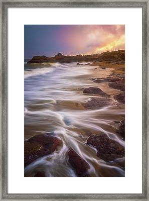 Framed Print featuring the photograph Coastal Whispers by Darren White