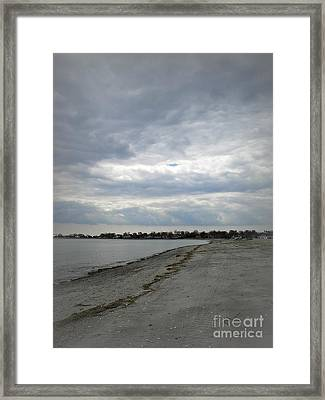 Framed Print featuring the photograph Coastal Winter by Kristine Nora