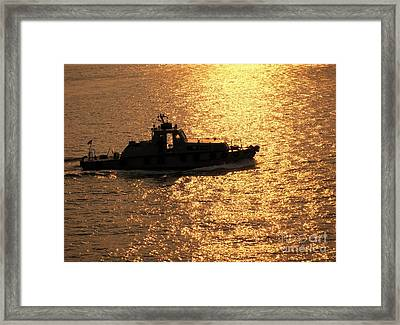 Coastguard Vessel Framed Print