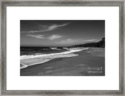 Coastline Black And White Framed Print by Amanda Barcon