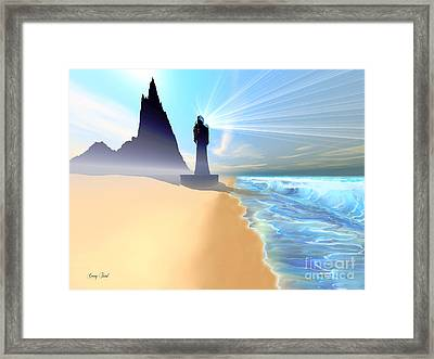 Coastline Framed Print by Corey Ford