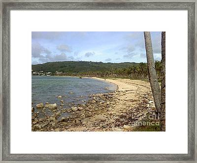Coastline In Guam II Framed Print
