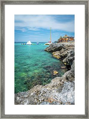 Coastline In Montego Bay Framed Print