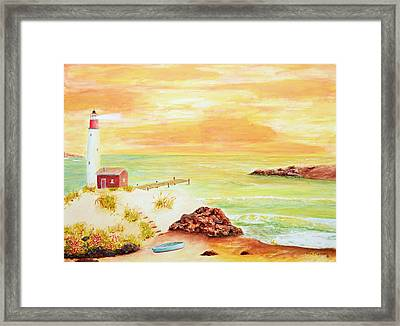 Coastline Lighthouse Framed Print