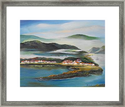 Coastline Framed Print by Min Wang