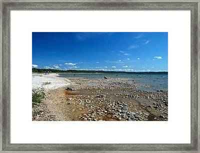 Coastline Of Lake Michigan  Near Petoskey State Park - Little Traverse Bay Framed Print