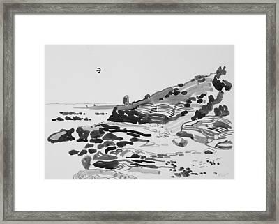 Coastline Of The Spain Framed Print by Vitali Komarov