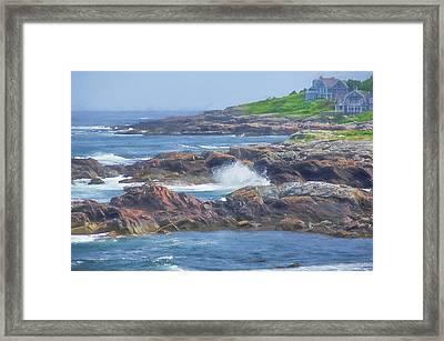 Coatal Maine Watercolor Framed Print