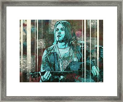 Cobain - All Apologies Framed Print by Bobby Zeik