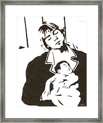 Cobain2 Framed Print by Michelle Kinzler