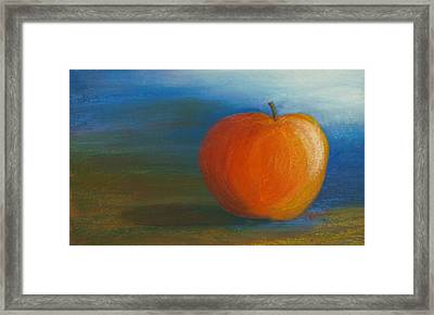 Cobalt Apple Framed Print by Cheryl Albert