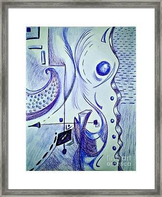 Cobalt Awakening  Framed Print