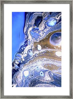 Cobalt Blue Abstract Seascape Framed Print