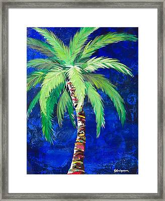 Cobalt Blue Palm II Framed Print