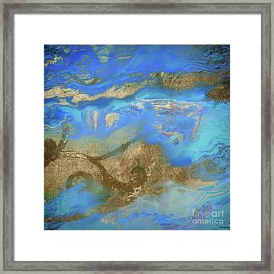 Cobalt Sea Framed Print by Mindy Sommers