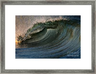 Cobalt Wave Framed Print