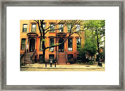 Cobble Hill Brownstones - Brooklyn - New York City Framed Print by Vivienne Gucwa
