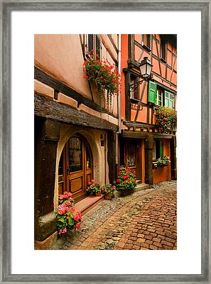 Cobble Stoned Street Framed Print by John Galbo