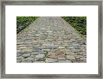 Cobbled Causeway Framed Print