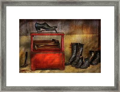 Cobbler - Life Of The Cobbler Framed Print