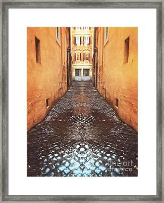 Cobblestone Framed Print by HD Connelly