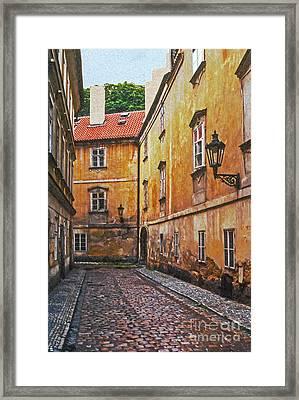 Cobblestone Passageway 4 Framed Print