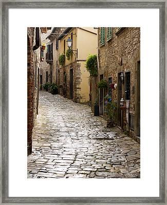 Cobblestone Street Framed Print by Rae Tucker