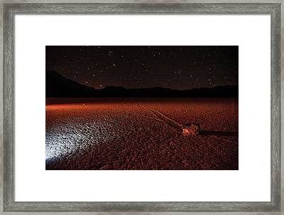 Framed Print featuring the photograph Cobblestones On The Racetrack Playa by Peter Thoeny