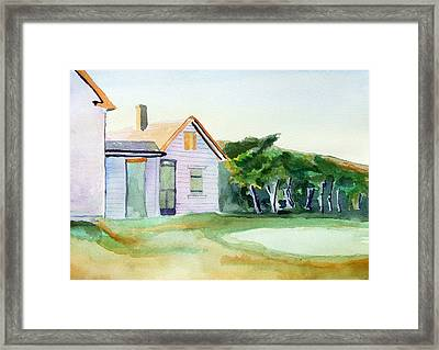 Cobb's House After Edward Hopper Framed Print