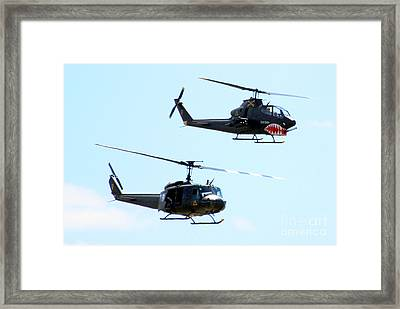 Cobra And Huey Framed Print by Larry Keahey